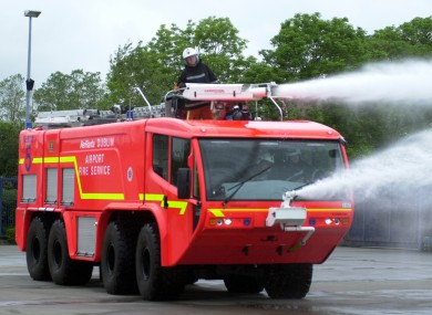 A Dublin Airport Fire Engine In Tradition Red Colours File Photo
