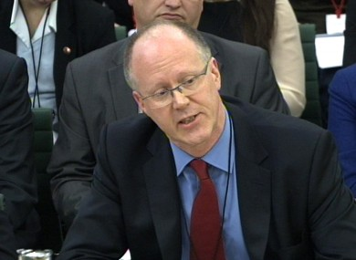 BBC director-general George Entwistle speaks to MPs at the House of Commons media committee today.