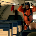 Thirty minutes into the flight, the co-pilot and passenger parachute out of the plane.