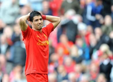 Luis Suarez: under pressure.