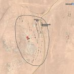 An aerial view of Kolmanskop shows how secluded it is in the Namib desert. (Google Maps)