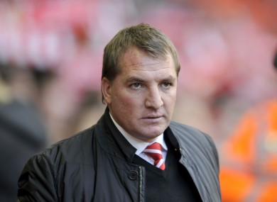 Liverpool's manager Brendan Rodgers.