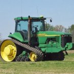 The man behind the giant fleet of green tractors got his start as a blacksmith in Grand Detour, Illinois. After struggling to make plows that could cut through the area's tough clay, Deere hit on the idea of building plows out of cast steel, and his blacksmith gig gave way to a booming farm-supply business. (Pic: Wikimedia Commons)