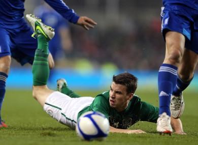 Seamus Coleman was Ireland's standout player tonight.