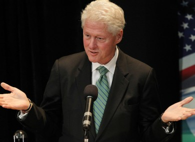Bill Clinton speaks to an audience in UCD in 2010. A Chicago newspaper has suggested Cilnton may be appointed as the next US ambassador to Ireland.
