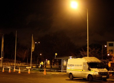 Gardaí examine a scene at Constitution Hill in connection with the shooting