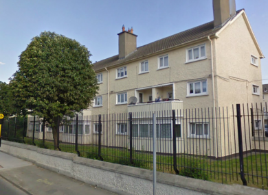 The Davitt House flats in Drimnagh, the home of John Byrne who had been reported missing.