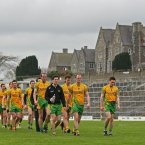 2012 was a year of glory for Donegal but they endured setbacks along the way. Here they depart the field on Fitzgerald Stadium after suffering a chastening 11-point loss to Kerry. (INPHO/Cathal Noonan).