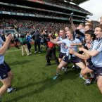 Snap happy. The Dublin minor footballers celebrate winning the All-Ireland final. (INPHO/Morgan Treacy).