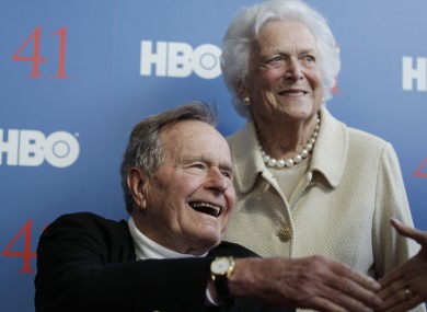George HW Bush with his wife Barbara pictured in June