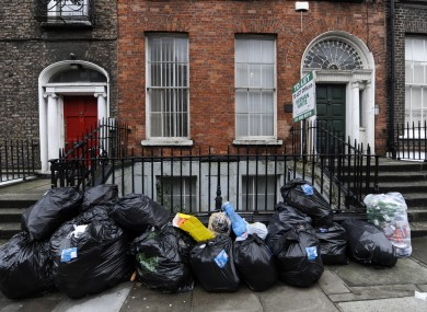 Rubbish bags on a Dublin street (File photo)