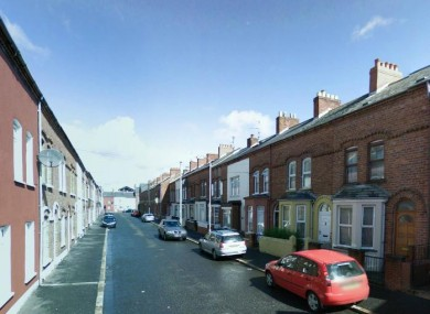 Hawthorn Street in west Belfast.