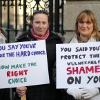 Carers at the Dáil ask for the government to make the