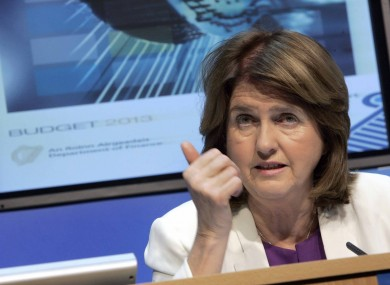 Joan Burton has conceded that some of the Budget measures are undesirable, but necessary to reduce spending at the Department of Social Protection.