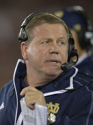 Notre Dame head coach Brian Kelly was named Coach of the Year this week.