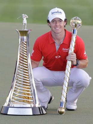 McIlroy after winning the DP World Golf Championship in Dubai last month.