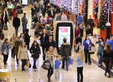 File photo of Christmas shoppers in Dundrum SC.