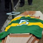 The year ends on a sad note with the sudden passing of Kerry football legend Páidí Ó Sé. Hundreds gather in Ventry to pay their respects. Ar dheis Dé go raibh a anam dilis. (Don MacMonagle).
