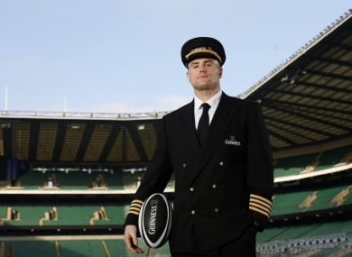 Jamie Heaslip at the launch of GUINNESS' Made of More RBS 6 Nations campaign at Twickenham Stadium.