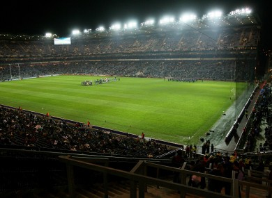 Croke Park will host a double-header of action on Saturday night.