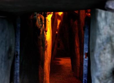The burial chamber at Newgrange.