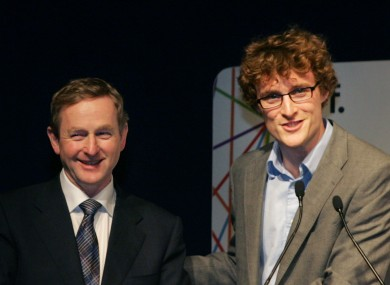 Paddy Cosgrave, founder of the Dublin Web Summit - seen here with Enda Kenny in 2011 - will be attending the EU Affairs committee later today.