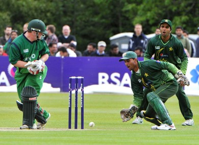 Paul Stirling in action against Pakistan in 2011.