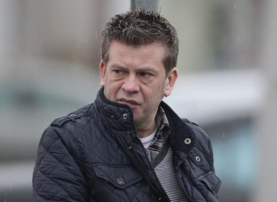 Brian Shivers outside Belfast Crown Court in January 2012.