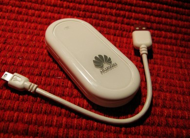 Huawei is best known among consumers for its USB dongles to connect to mobile broadband services.