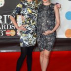 Sara Cox and Ireland's own Annie Mac did the red carpet together.  Annie looks mega, and IS pregnant.  Her baby is due in May. (How cool is that baby going to be?)  Doug Peters/Doug Peters/EMPICS Entertainment