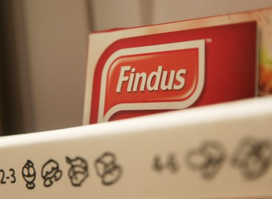 Findus food in a freezer