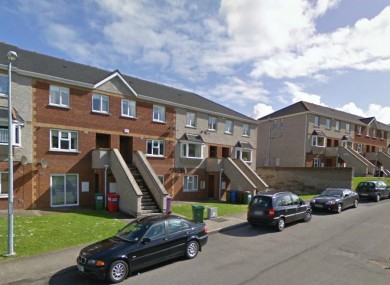 File photo of the Pembroke Crescent estate where the fire broke out in the early hours of Sunday morning.