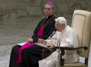 Monsignor Georg Gaenswein with the Pope