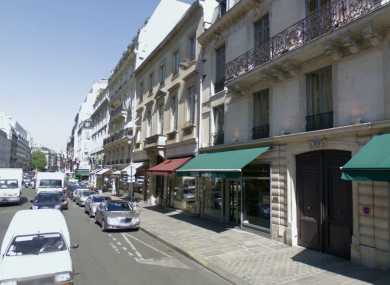 A file photo of Rue du Faubourg St Honore in Paris, where a mobster's car was broken into - revealing his mobster status.