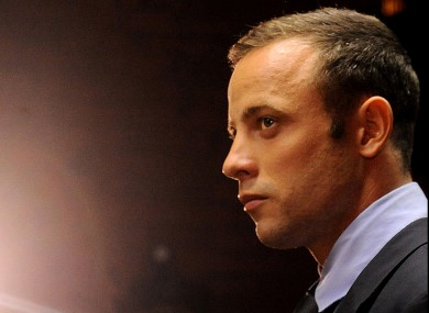 Oscar Pistorius, pictured in court in Pretoria.