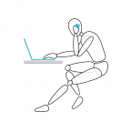 People frequently use more than one device at a time, which can lead to a hunched position, especially when a laptop's being used.