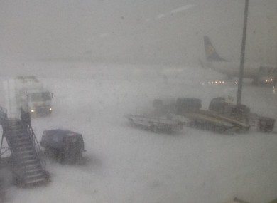 Reader Finbarr Barry sent this photo from Dublin Airport at 7:50am this morning.