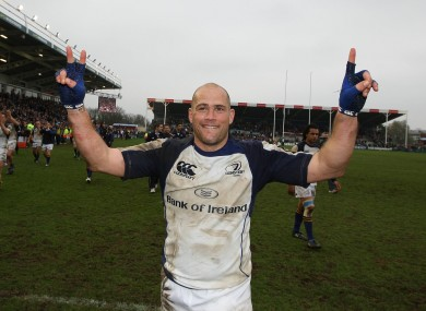 Felipe Contepomi celebrates after a Leinster win.