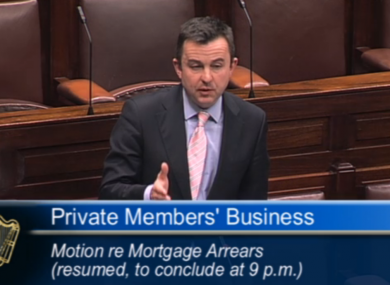 Minister of State at the Department of Finance, Brian Hayes, speaking in the Dáil this evening.