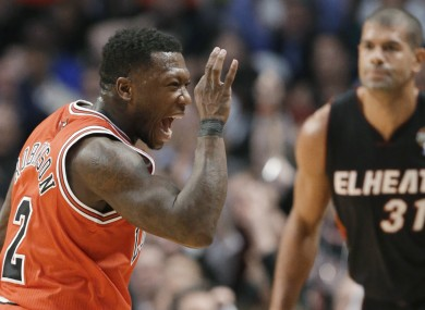 Nate Robinson of the Bulls gets his celebration on.