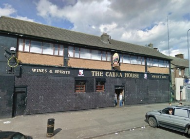 The Cabra House pub, also know as The Oasis.