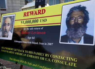 An FBI poster looking for information on Robert Levinson