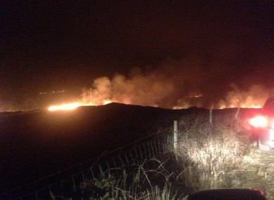 A photo of the Gorse fires raging in Co Galway last night. Submitted by reader Robert O'Dolan.