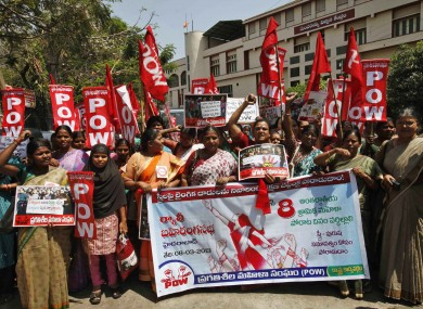 Activists of Progressive Organisation of Women at a rally on 8 March in Hyderabad.