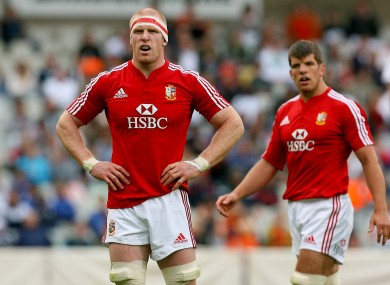 Paul O'Connell with Donncha O'Callaghan in 2009.