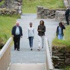 The Obama ladies took the tour through the monastic site before heading to Dalkey for lunch with Bono. (Image: Sasko Lazarov/Photocall Ireland)