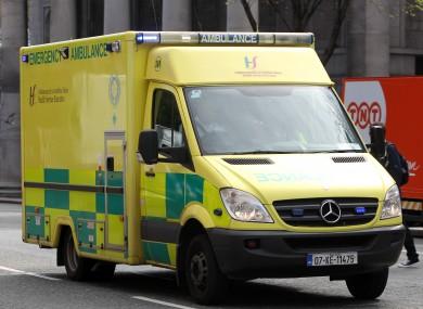 File image of HSE ambulance.
