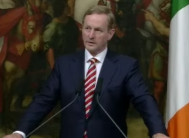Enda Kenny, speaking in Rome, borrowed a local proverb in claiming: