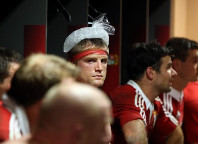 Jamie Heaslip cools down after the First Test.