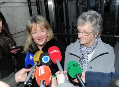 Maureen Sullivan and Marina Gambold of 'Magdalene Survivors Together'